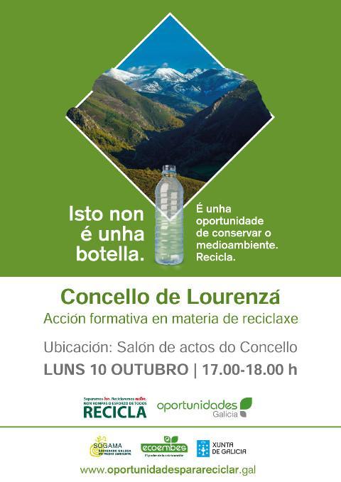 O curso 2016-2017 do taller de memoria organizado polo Concello de Lourenzá comezará o vindeiro 10 de outubro cunha charla sobre reciclaxe de residuos.