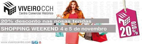 Shopping Weekend, organizado por el Centro Comercial Histórico de Viveiro, los días 4 y 5 de noviembre. Participan 5 comercios, que ofrecerán descuentos del 20% en infinidad de artículos.