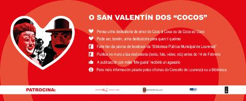 O Concello de Lourenzá organiza un concurso de dedicatorias de amor para celebrar San Valentín a través da páxina de facebook da Biblioteca Municipal.