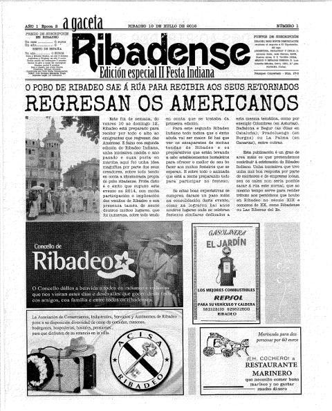 """Faro Norte Comunicación prepara el segundo número de """"A Gaceta Ribadense"""". El periódico se edita con motivo de la celebración del Ribadeo Indiano."""