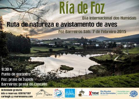 Maremasma organiza una ruta de naturaleza y avistamiento de aves. Será este sábado, 7 de febrero, en la ría de Foz.