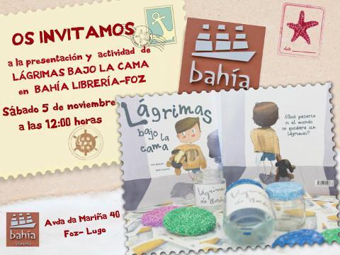 """Nova sesión dos """"Sábados de Conto"""" na Librería Bahía, en Foz, o 5 de novembro. Alí estará a autora lucense Ana Meilán."""