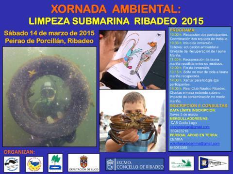 O vindeiro sábado, 14 de marzo, no peirao de Ribadeo terá lugar unha xornada ambiental de limpeza submarina. Haberá inmersións, charlas e mesa redonda sobre o impacto da contaminación no medio mariño.