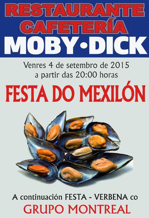 El restaurante Moby Dick, de Barreiros, celebra este viernes, 4 de septiembre, fiesta del mejillón y verbena.