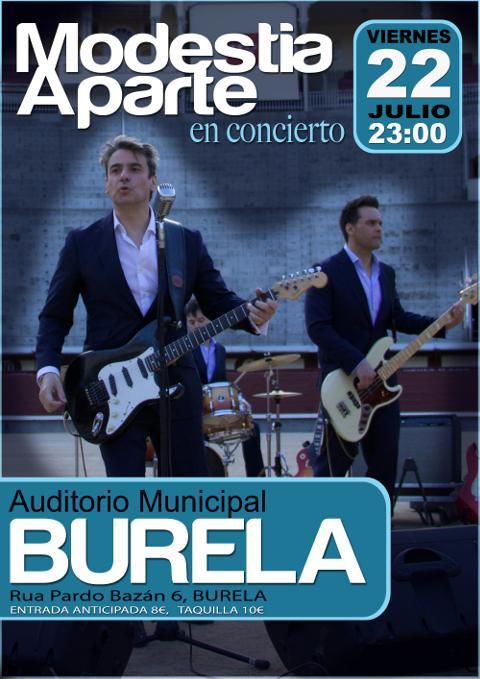 Modestia Aparte ofrecerá un concerto en Burela o 22 de xullo. As entradas poránse á venda anticipada o vindeiro martes, día 5.