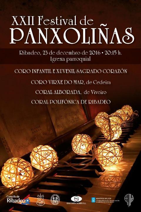 O 23 de decembro terá lugar na Igrexa Parroquial de Ribadeo o XXII Festival de Panxoliñas, que organiza a Coral Polifónica ribadense.