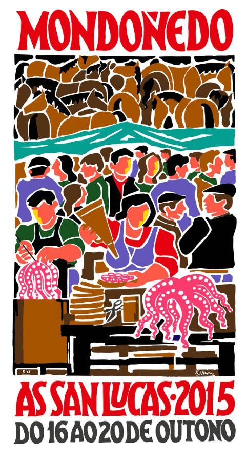 A asociación organizadora e a alcaldesa de Mondoñedo presentaron o cartel artístico das San Lucas 2015. As festas serán do 16 ao 20 de outubro.