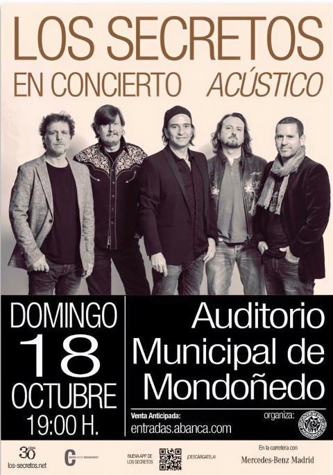 O grupo de pop rock Los Secretos actuará en Mondoñedo o 18 de outubro, dentro do programa de As San Lucas.