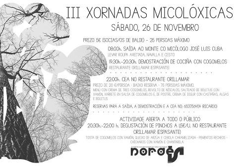 Nordés Faladora organiza, por terceiro ano consecutivo, unha xornada dedicada aos cogomelos, que inclúe saída ao monte e degustación. Será o 26 de novembro.