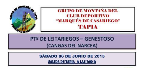 El grupo de montaña Marqués de Casariego, de Tapia, realizará el 6 de junio la travesía del puerto de Leitariegos a Genestoso.