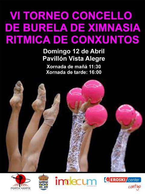 Trescentas ximnastas de toda Galicia participarán o 12 de abril no VI Torneo de Ximnasia Rítmica de Conxuntos Concello de Burela.