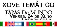 Aciam Xove organiza para este venres, 24 de xuño, o seu tapeo máis especial. Estará adicado a sete países do mundo.