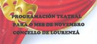 En novembro haberá un ciclo de teatro en Lourenzá, con tres representacións. Está organizado polo Concello.