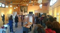 """Ata o 13 de xaneiro permanecerá aberta na oficina de turismo de Ribadeo a exposición """"Andar cos tempos..."""", organizada polo Observatorio da Mariña pola Igualdade e o Concello de Ribadeo."""