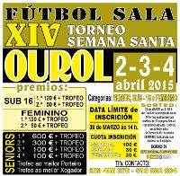 A SD Ourol organiza o XVI Torneo Semana Santa de Fútbol Sala, que se celebrará do 2 ao 4 de abril. Disputarase nas categorías senior, feminino e sub-16.