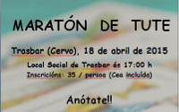 Maratón de tute no Local Social de Trasbar, en Cervo, o 18 de abril con importantes premios en metálico para as parellas gañadoras.