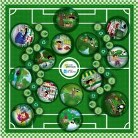 """Do 13 ao 16 de abril estará en Burela o xogo xigante de Sogama """"Un partido polo planeta"""". Estará en centros de ensino e en varias asociacións."""