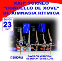Este sábado, 23 de maio, ás cinco da tarde dará comezo o XXII Torneo Concello de Xove de Ximnasia Rítmica.